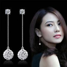 Silver Plated Earrings Ear Wire Crystal Fashion Dangle Earring Gift Women