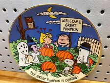 Peanuts Magical Moments The Great Pumpkin Is Coming Collector Plate Danbury Mint