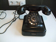 Altes Siemens Telefon Bakelit W48 mit Wählscheibe und TAE STECKER von 1954