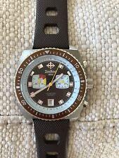 Zodiac  Z02236 Vintage Men's Chronograph brown dial Sea Dragon watch