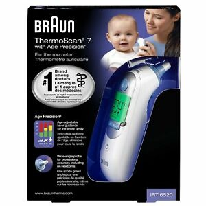 Braun ThermoScan 7 IRT6520 Ear Thermometer Digital LCD for Kids & Adults