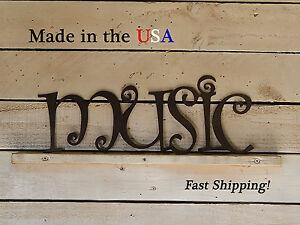 Music - Word Signs - Studio Decor -Music Room Decor-Kid's/Teen's Bedroom - W1119