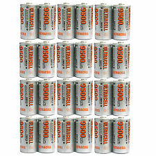 24 pc C Size 9500mAh 1.2V Ni-MH Rechargeable Battery Cell Ultracell Toy US Stock