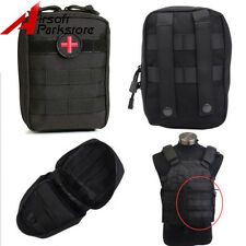 Tactical Outdoor Molle EMT Utility Medical First Aid Pouch Waist Tools Bag Black