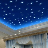100pcs 3D Colored Star Sticker Home Decor Glow In The Dark Wall Room Decor US
