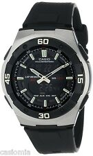 Casio AQ164W-1A Mens Black Full LCD Analog Digital Sports Watch 100M Dual Time