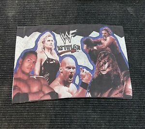 Vintage 1999 90s WWF Attitude Pillow Case Cover Stone Cold The Rock Raw Is War