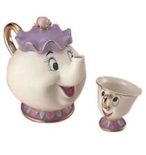 Disney Beauty and The Beast Tea Pot & Cup Set, Mrs. Pot and Chip