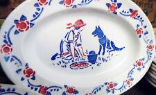Bright Ancienne Dinette Faience Hbcm Creil Montereau Chaperon Rouge Loup Poupée Jouets, Jeux Anciens