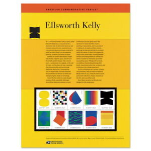 USPS New Ellswoth Kelly American Commemorative Panel