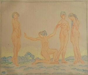 Monogrammed Hrs - 4 Naked Women