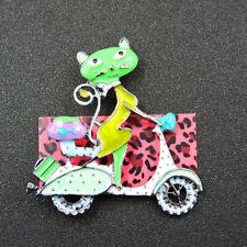 Betsey Johnson New Cute Multi-Color Enamel Fashion Cat Girl Brooch Pin Gift