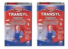 2 DEGRIPPANT LUBRIFIANT DEGRAISSANT TRANSYL BIDON 1L dégripper lubrifier