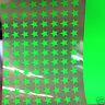 appliqué 30 étoiles 1cm Flex thermocollant VERT FLUO