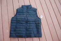 NWT Black Waterproof 32 DEGREES HEAT Zip Front Down Filled Packable  Vest  2XL