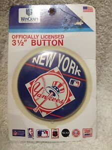 "NY Yankees 3 1/2"" button - new"