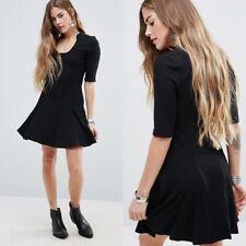 Free People Black Jolene Ribbed Mini Dress Size Small $140