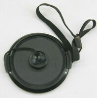 52mm Front Snap On Lens Cap With Leash  - Unbranded  -  USED Z685