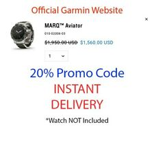 Garmin MARQ Aviator - 20% Discount Code (NO WATCH, SEE DESCRIPTION)