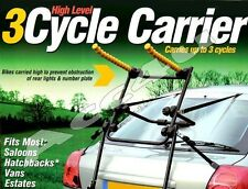 Maypole BC2000 Car Rear High Level Easy To Fit 3 Cycle Bicycle Carrier Bike Rack