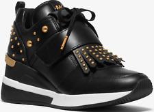 MICHAEL Michael Kors Woman's Georgie Trainer Wedge Sneakers, Black