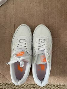 womens nike air max 90 size 5.5 White Pink And Neon Orange