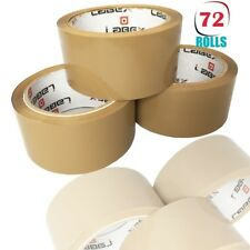"72 x LABEX PACKING PARCEL TAPE ROLL BROWN TAPE 48MM 2"" X 66M BARGAIN CHEAP"