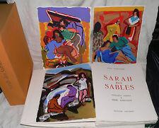 AMBROGIANI : AUDOUARD- SARAH DES SABLES. EXEMPLAIRE AVEC SUITES ET DESSIN