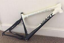 """Giant XTC Composite 1 26"""" Carbon Mountain Bike Frame White & Black 17"""""""