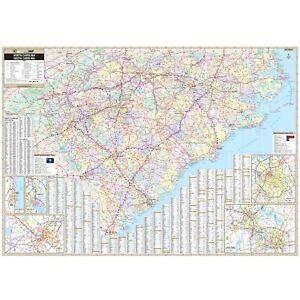 North & South Carolina State Wall Map