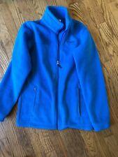 Girls Columbia Turquoise Fleece Zip Front Jacket Size L (14/16)