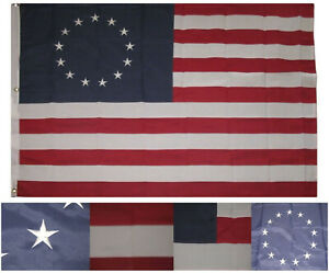 4x6 Embroidered Sewn Betsy Ross Synthetic Cotton Flag 4'x6' Grommets