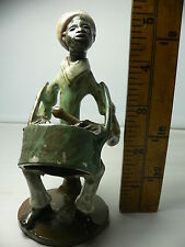 Vintage Antiqua Pottery LTD Ceramic Caribbean Drummer Fiquire