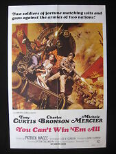 YOU CAN'T WIN 'EM ALL 1970 Australian movie poster Tony Curtis Charles Bronson