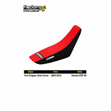 2004-2012 HONDA CRF 50 Black/Red FULL GRIPPER SEAT COVER BY Enjoy MFG