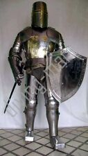 Medieval Crusader Suit of Armor 17th Century Combat Full Body Armour Suit AT2