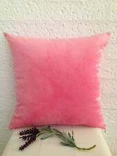 Pink Solid Colour Double Sided Velvet Look Soft Pillow Cushion Cover 45 cm