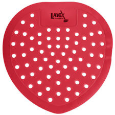 72 Lavex Janitorial Cherry Scent Deodorized Urinal Screens - 72/Case