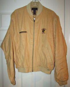 Vintage NFL Washington Redskins Team Issued Full Zip Chamois Jacket L Antigua