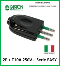 Nuova T 10A 511 250 V SPINA A SQUADRA SMONTABILE RIBASSATA ITALIANA 2P