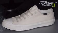 """CONVERSE """"CHUCK TAYLOR"""" CTAS II OX CANVAS in colors WHITE MENS 9 WOMENS 11"""