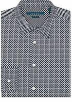 PERRY ELLIS Men's Diagonal Stripes Stretch Long Sleeve Size 3XL NEW $90+ BigTall