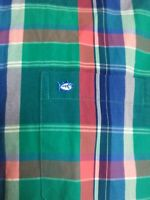 Southern Tide Long Sleeve Button Down Shirt Check Classic Fit Mens Medium