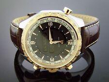 MEN'S AQUA MASTER WHITE DIAMONDS ROSE GOLD BEZEL 0.75CT SWISS MOVT DIGITAL WORLD
