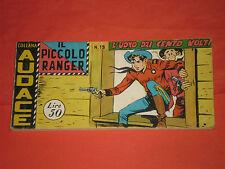 PICCOLO RANGER 4°SERIE IV°-N°19 DEL 1961- STRISCIA -COLLANA AUDACE-araldo +altre