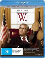 *New & Sealed*  W  (Blu-ray, 2009) George W. Bush Movie starring Josh Brolin