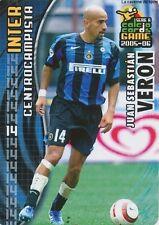 N°057 JUAN SEBASTIAN VERON # ARGENTINA INTER CARD PANINI CALCIO 2006