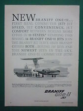 3/1965 PUB BRANIFF AIRWAYS AIRLINES BAC ONE-11 ONE ELEVEN AIRLINER ORIGINAL AD