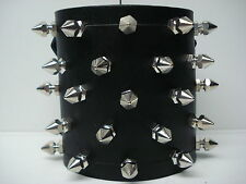 LEATHER SPIKED BRACELET. DEATH GRIND (MDLB0211)..... E.T.T.S.