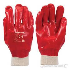 Red PVC Gloves Large Safety & Workwear Hand Protection